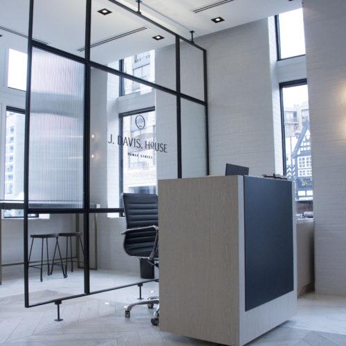 Display frame + desk panel