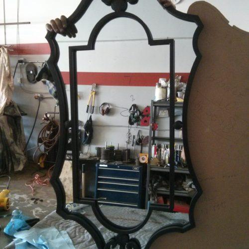 Hand forged mirror frames