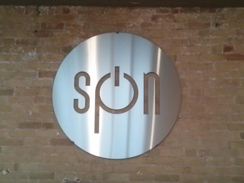 Stainless lazer cut logo sign