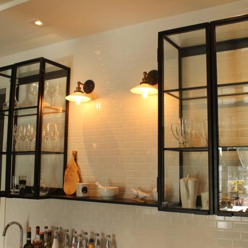 Steel frame cabinet